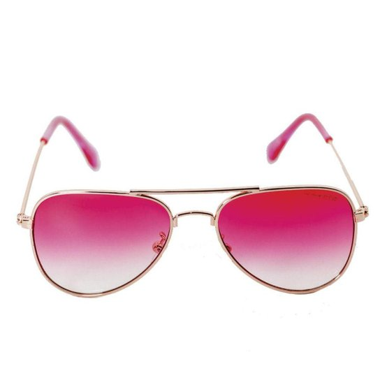 3c0daebed173f Óculos de Sol Khatto Infantil Aviador Station Feminino - Rosa ...