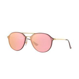 2db91fb077db0 Óculos de Sol Ray-Ban Blaze Double Bridge Feminino