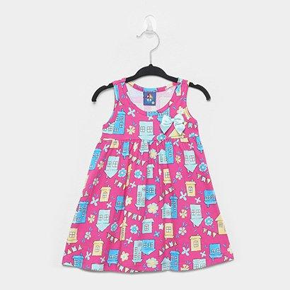 Vestido Infantil Pipa Evasê Festa Junina Lacinho