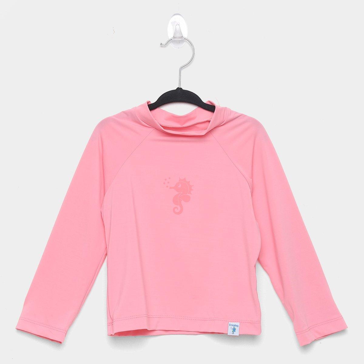 Camiseta Bebê Ecoeplay Manga Longa Proteção UV Feminina