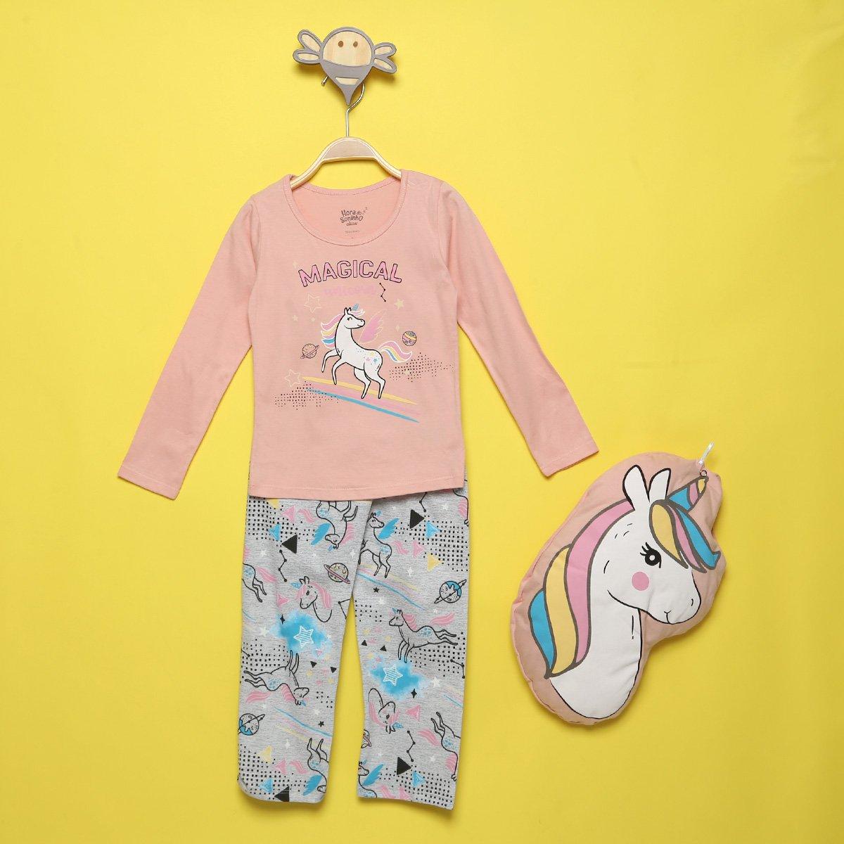 Pijama Infantil Longo Elian Unicórnio Feminino