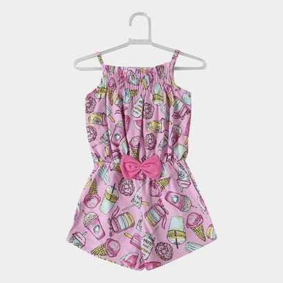 Macaquinho Infantil For Girl Smoothie Feminino