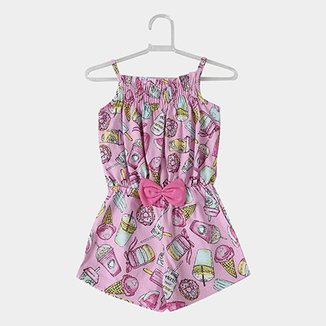6d2ca6750 Macaquinho Infantil For Girl Smoothie Feminino