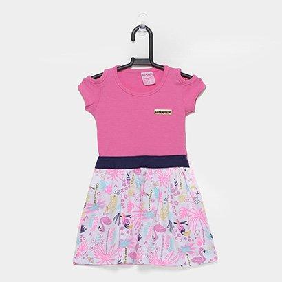 Vestido Infantil For Girl C/ Recorte No Ombro-3303