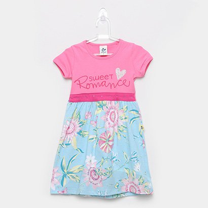 Vestido Infantil Andritex Cotton E Malha Sweet Romance