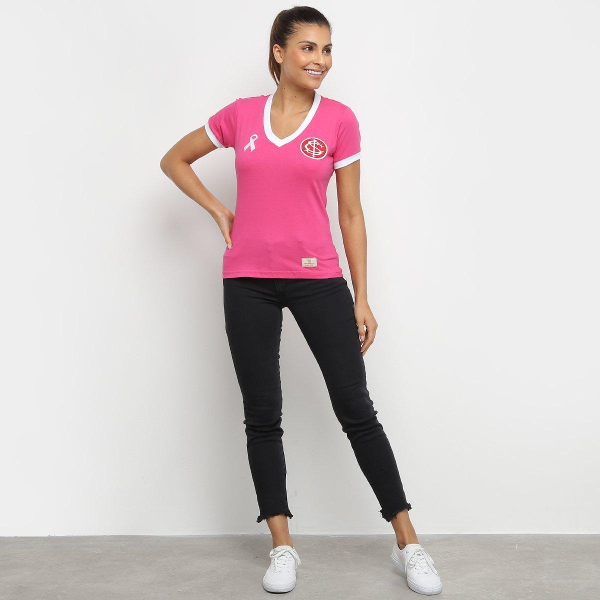 Camisa Internacional Outubro Rosa Retro Mania Feminina