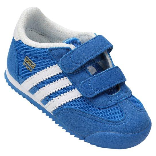 9e235245e6c Tênis Adidas Dragon CF 1 Infantil - Azul Royal+Branco