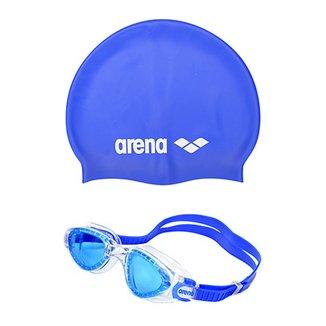 36aadf9986338 Kit Óculos Arena Cruiser Soft + Touca Arena Classic Silicone