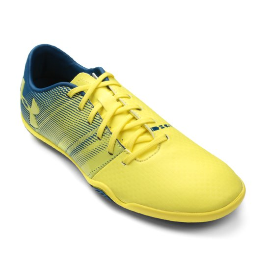 Chuteira Futsal Under Armour Spotlight IN - Amarelo e Cinza - Compre ... 443b6c44bbd40