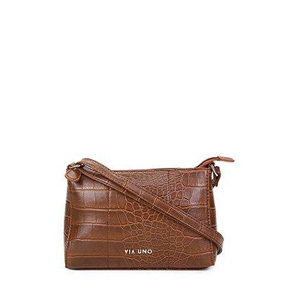Bolsa Via Uno Mini Bag Croco Fosca Feminina