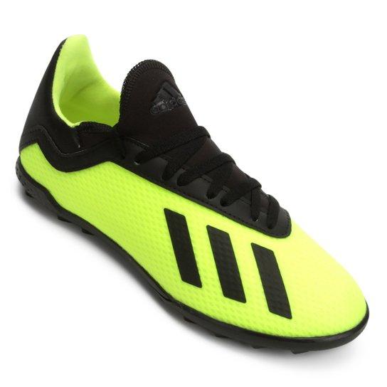 Chuteira Society Infantil Adidas X Tango 18 3 TF - Amarelo e Preto ... 2fdf615967ea5