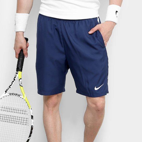 Short Nike Dry 9 Polegadas Masculino - Azul Petróleo e Branco ... 8c6a476ce4208