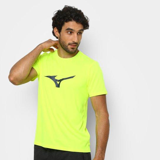 a9504f1192 Camiseta Mizuno Run Spark Masculina - Amarelo e Cinza - Compre Agora ...