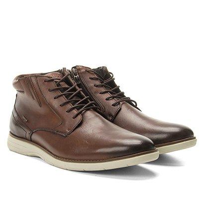 Sapato Casual Couro Cano Alto Ferracini Trindade Masculino