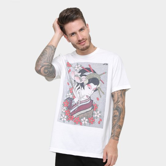 108df50dcd Camiseta MCD Especial Body Tattoo Gueixa Fame Masculina - Caramelo