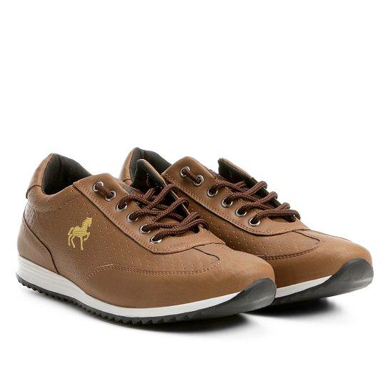 Tênis Polo Royal Jogging Recortes Masculino - Caramelo - Compre ... 1254acc4ec683