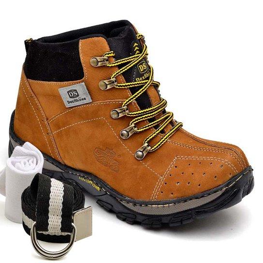 Kit Bota Adventure Dexshoes com Cinto e Meia - Caramelo - Compre ... a43d8be12bf14
