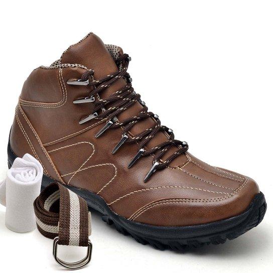 Kit Botas Dexshoes Adventure Cinto e Meia Dexshoes Masculino - Caramelo 3f8b4544ebd33