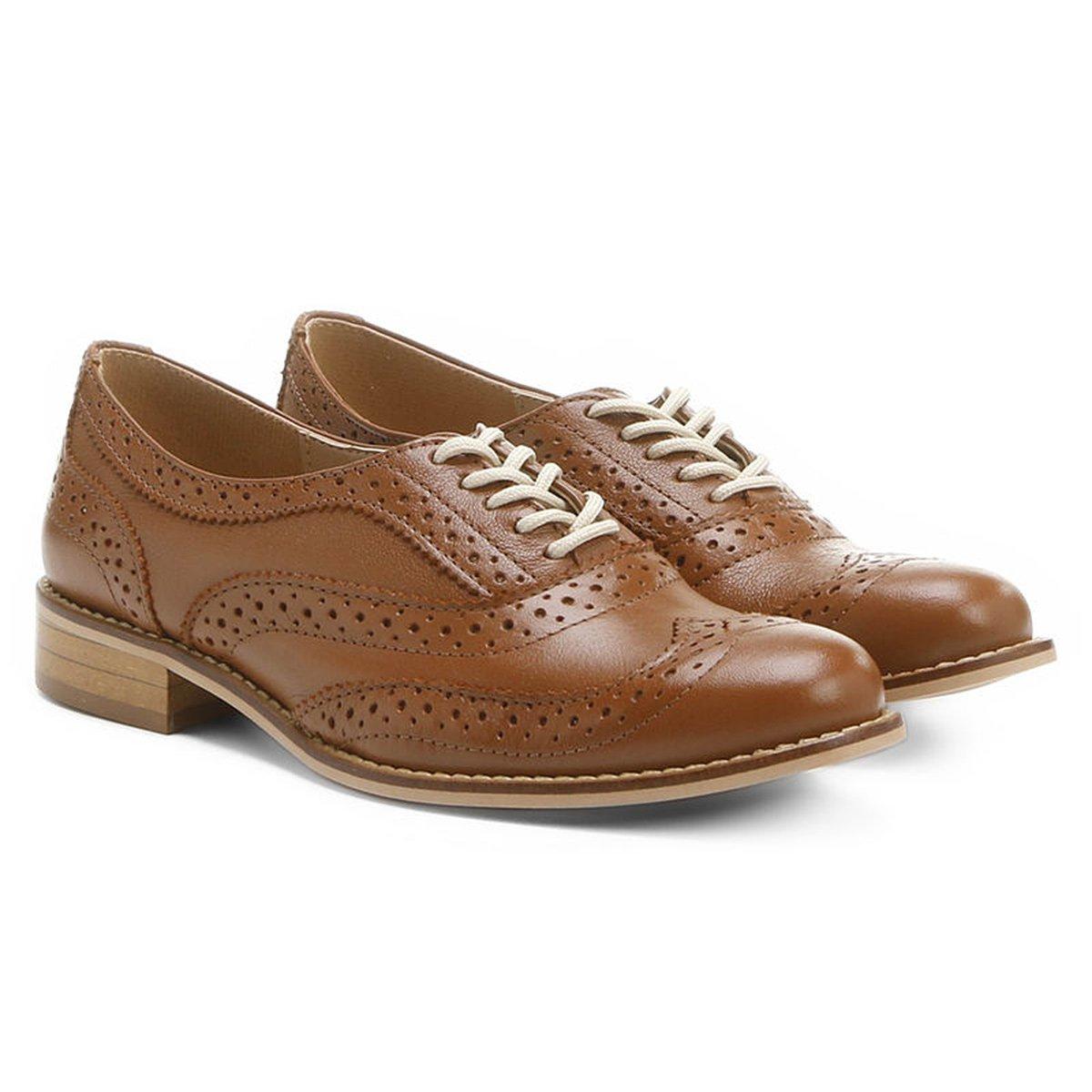 Oxford Couro Shoestock Tradicional Feminino