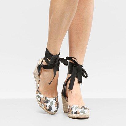 Espadrille Anabela Shoestock Hibisco Feminina