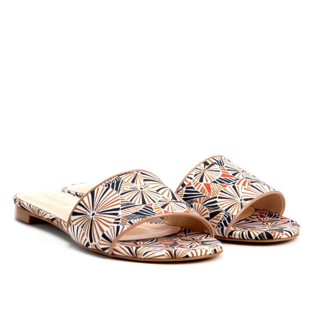 Rasteira Shoestock Slide Estampada