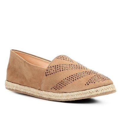 Sapatilha Couro Shoestock Hot Fix Feminina