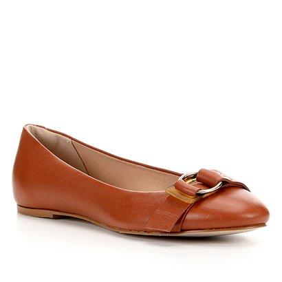 Sapatilha Couro Shoestock Golden Ring Feminina