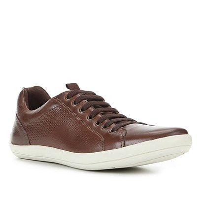 Sapatênis Couro Shoestock Street Basic Masculino
