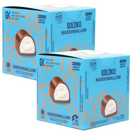 2 Caixa De Bombom Goldko Marshmallow 0 Adicao De Acucares 18un -