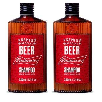 2 Shampoo Budweiser 220 ml - QOD Barber Shop