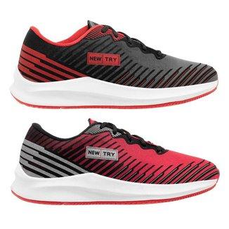 2 Tênis New Try Running Masculino