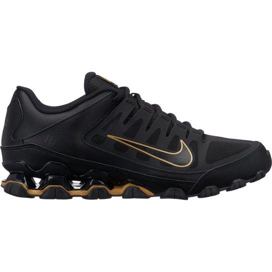 Tênis Nike Reax 8 TR Masculino - Preto e Dourado - Compre Agora ... f7190630308a5