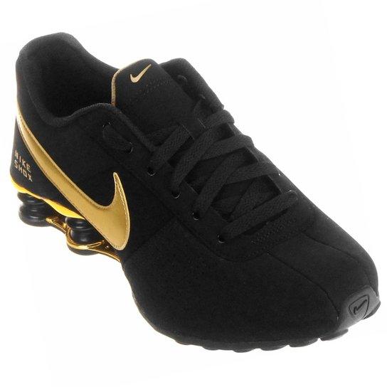 in stock d34f1 c5774 Tênis Nike Shox Deliver - Preto+Dourado