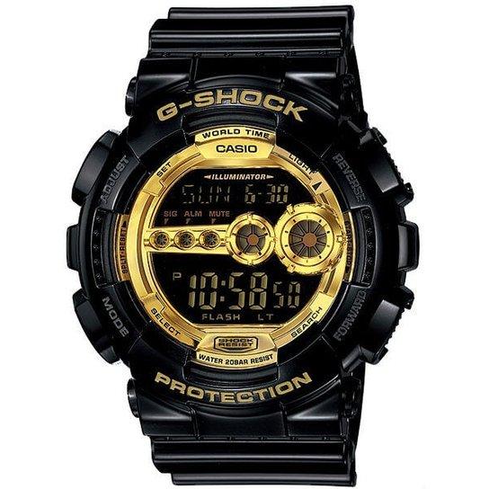 67f613c3236 Relógio Casio G-Shock Gd-100Gb-1Dr - Preto e Dourado - Compre Agora ...