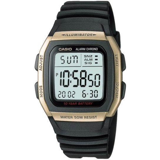 000bfe7f4c7 Relógio Casio W-96H-1A - Preto e Dourado - Compre Agora