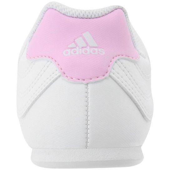 3422c51c72e ... Tênis Adidas Kundo 2 Juvenil - Branco+Rosa ...