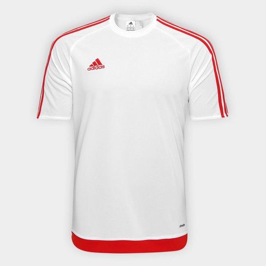 0db0c506054 Camisa Adidas Estro 15 Masculina - Branco e Vermelho - Compre Agora ...