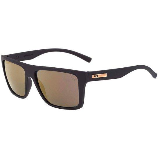 3b6c9ab24 Óculos de Sol HB Floyd - Preto e Dourado   Netshoes