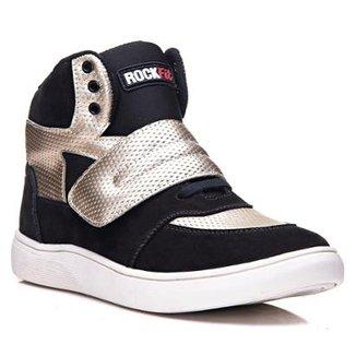 Tênis Sneaker Cano Alto RockFit U2 em Couro Feminino 8acb4feb2593b