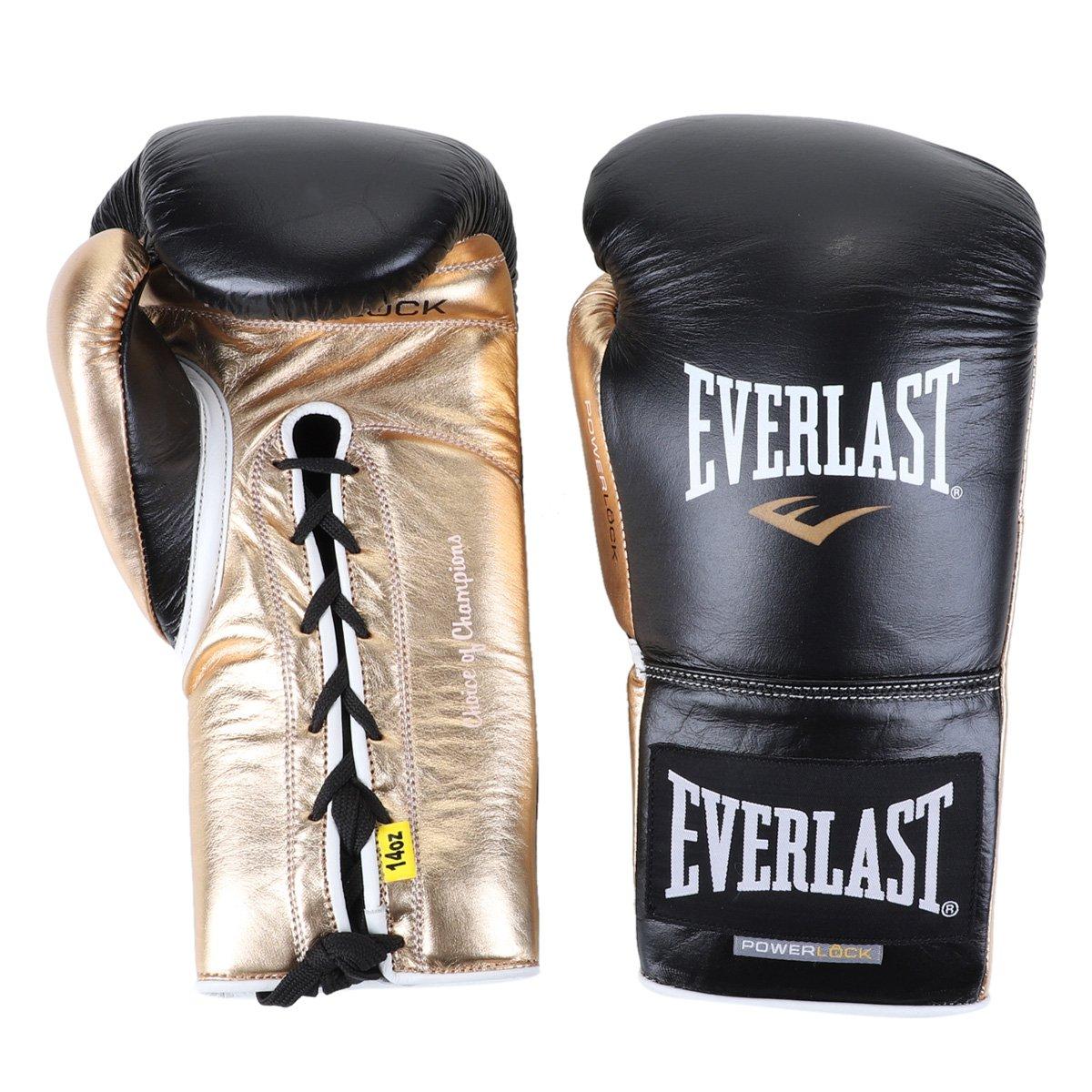 Luva de Boxe/ Muay Thai Everlast Powerlock Amarração 14 Oz