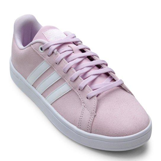 116cc5eb3 Tênis Adidas Cloudfoam Advantage Feminino - Branco e Rosa - Compre ...