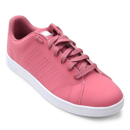 5728a8e80 Tênis Adidas Vs Advantage Cl W Feminino - Rosa e Branco | Netshoes