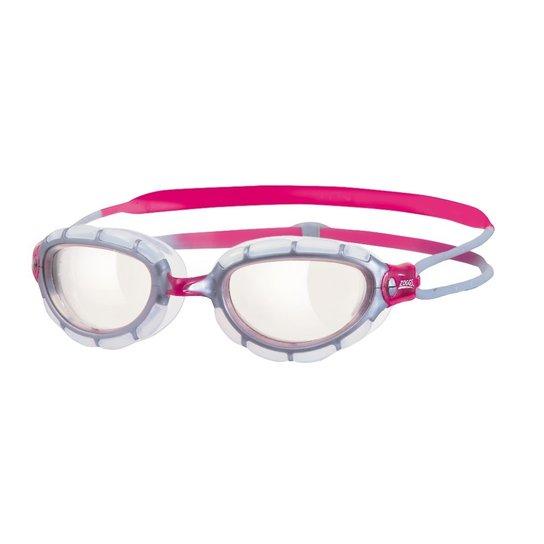 Óculos De Natação Zoggs Predator Feminino Lente Transparente - Branco+Rosa f75ce15b8b