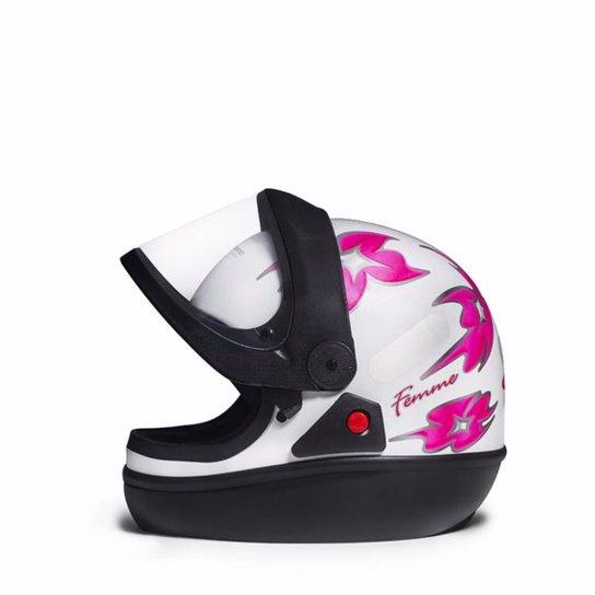 8118c9b82 Capacete Taurus San Marino - Branco e Rosa   Netshoes