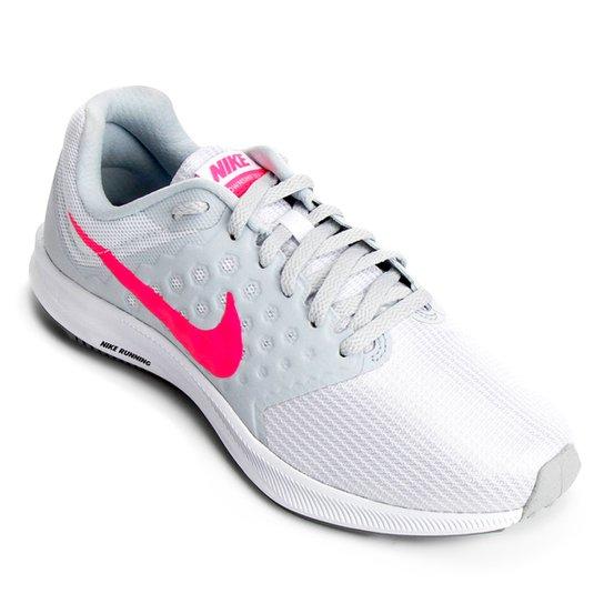 95198d09e32 Tênis Nike Downshifter 7 Feminino - Branco e Rosa - Compre Agora ...