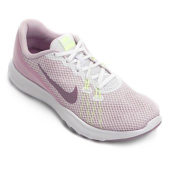 Tênis Nike Flex TR 7 Feminino - Branco e Rosa - Compre Agora  6bfad3a655a22