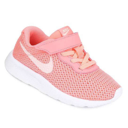 67fb276e43b Tênis Infantil Nike Tanjun - Branco e Rosa - Compre Agora