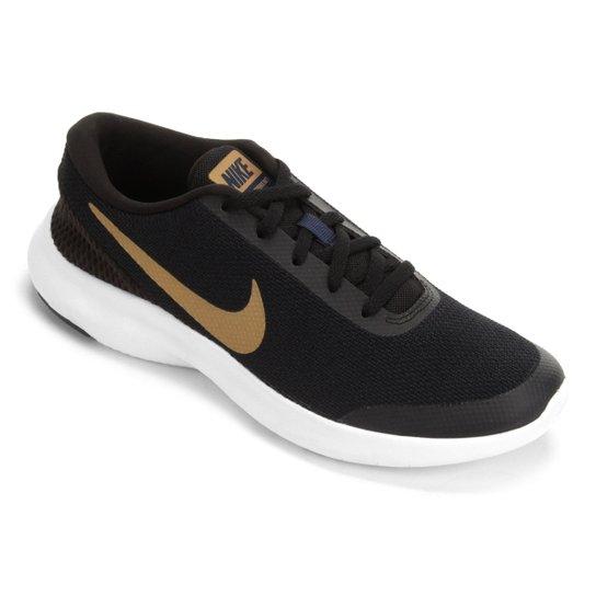 Tênis Nike Flex Experience RN 7 Feminino - Preto e Dourado - Compre ... 005a0f00881c1