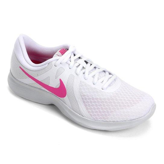 4250bae9 Tênis Nike Revolution 4 Feminino - Branco e Rosa   Netshoes