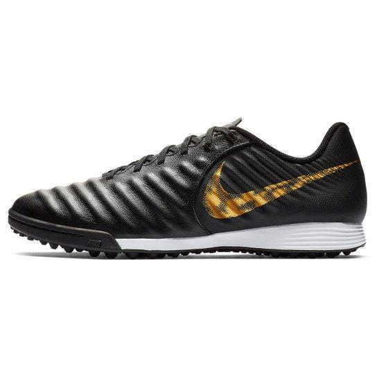 5e63c41b24 Chuteira Society Nike Tiempo Legend 7 Academy TF - Preto+Dourado. Loading.